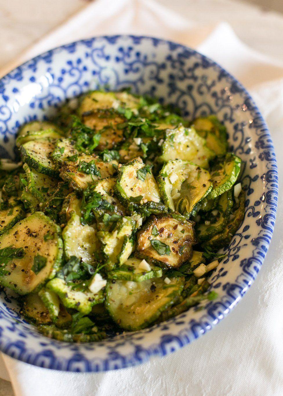 Garlic-Marinated Zucchini