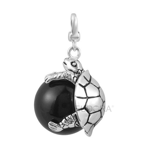 """Cute Tortoise Harmony Ball Pregnancy Chime Bola Pendant Belly Bell Necklace 45"""" 