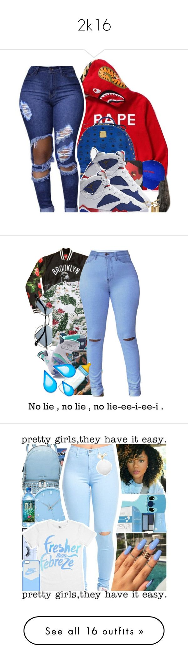 """2k16"" by missthang224 ❤ liked on Polyvore featuring MCM, NIKE, Balenciaga, Retrò, Penfield, Lemnos, Huda Beauty, Michael Kors, On The Byas and Pieces"