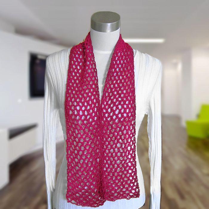Free Crochet Pattern: Diamond Mesh Scarf (Cotton Spa) | Hats ...