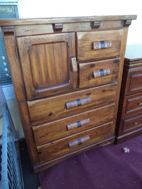 Superbe I Have A Link Taylor Rawhide Tall Dresser, Nightstand And Rolltop Desk And  ...   My Antique Furniture Collection