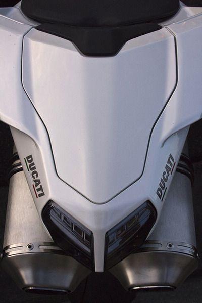 Ducati exhaust piperear detail