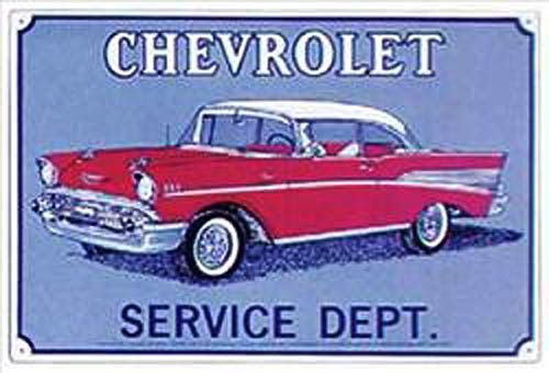 Tin Sign Chevrolet Service Department Sign M6 Tin Signs