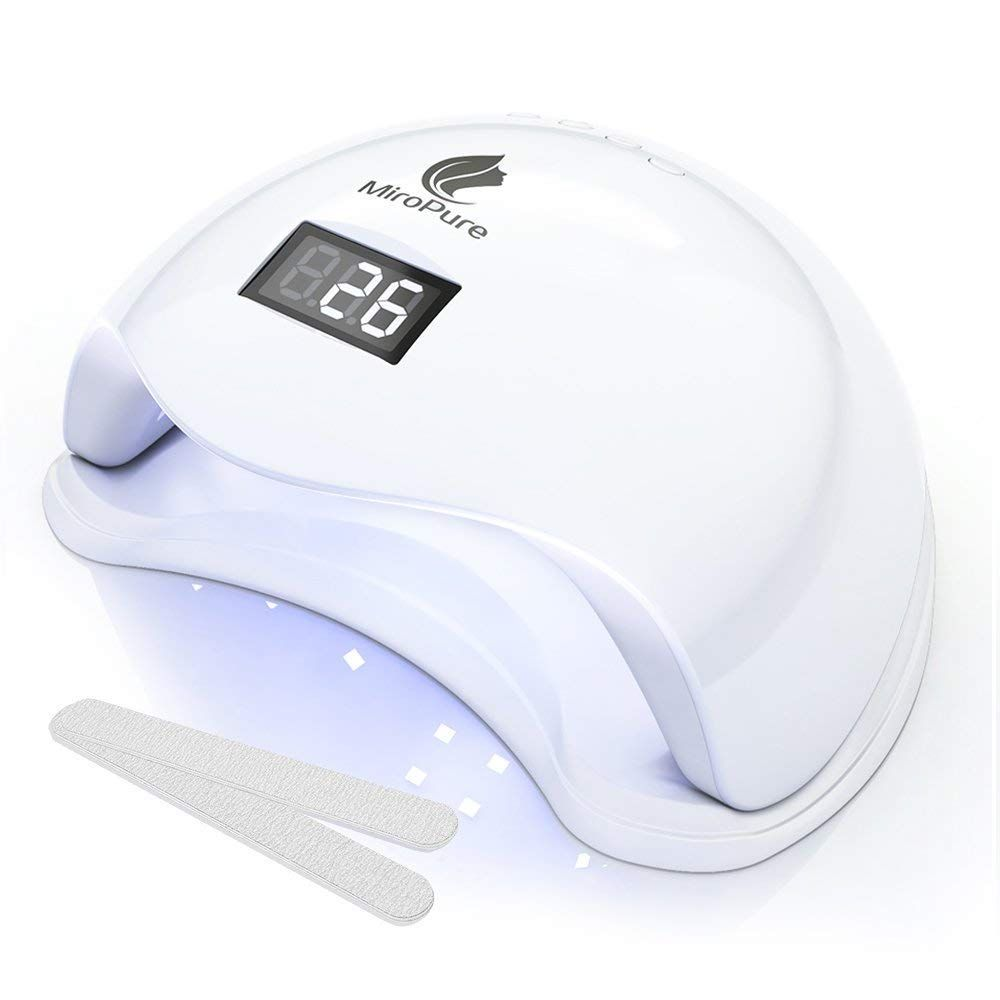 Miropure 36w Uv Led Nail Lamp With 4 Timer Setting And 2 Nail Files Check This Awesome Product By Going To The Link At The Led Nail Lamp Uv Nail Lamp Uv Led