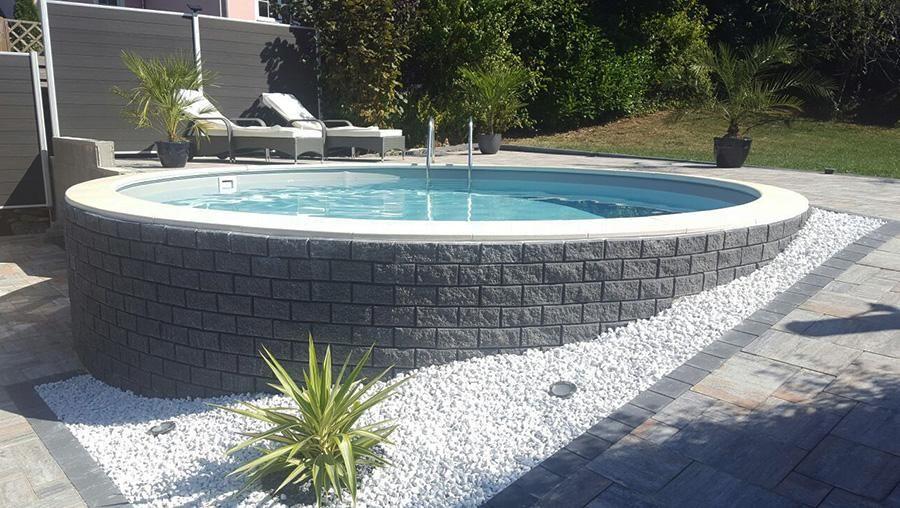 Stahlwandpool teilversenkt verkleiden  poolakademie.de - Bauen Sie ihren Pool selbst! Wir helfen Ihnen ...