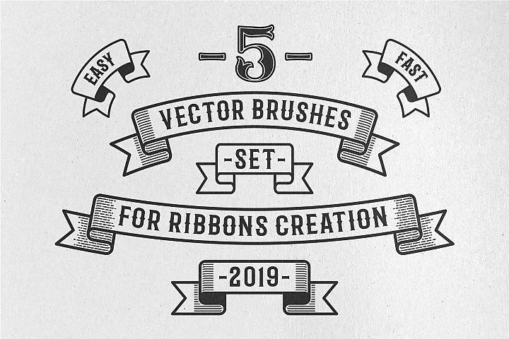 Vintage Ribbon Vector Brushes 197792 Brushes Design Bundles In 2020 Vintage Ribbon Vector Vector Brush Vintage Ribbon