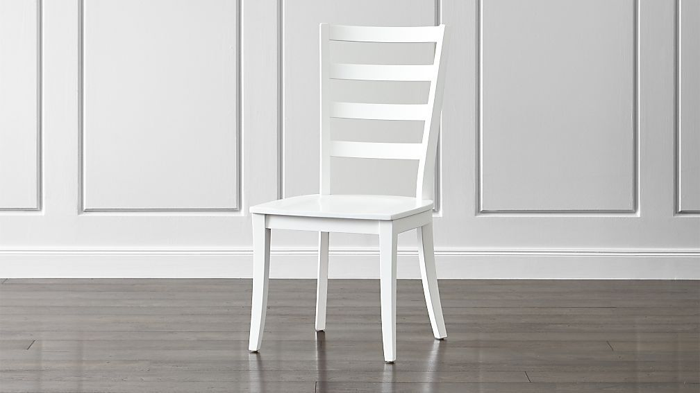 Fine Harper White Ladder Back Dining Chair Client Cp Kitchen Andrewgaddart Wooden Chair Designs For Living Room Andrewgaddartcom