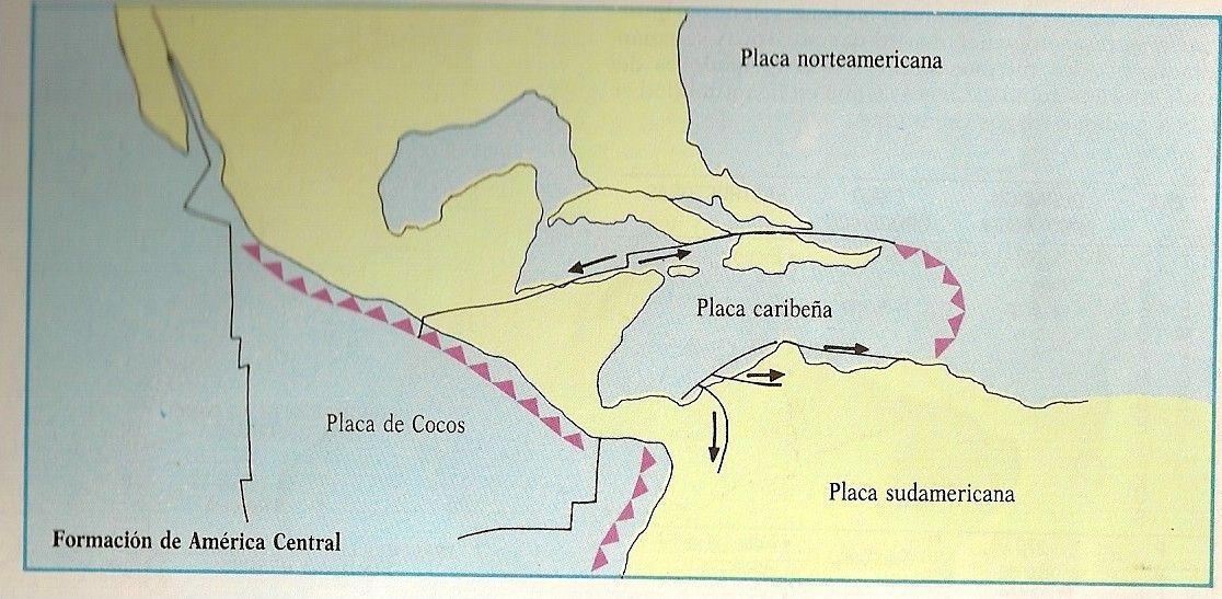 Placas tectnicas de Amrica Central  Mapas  Pinterest