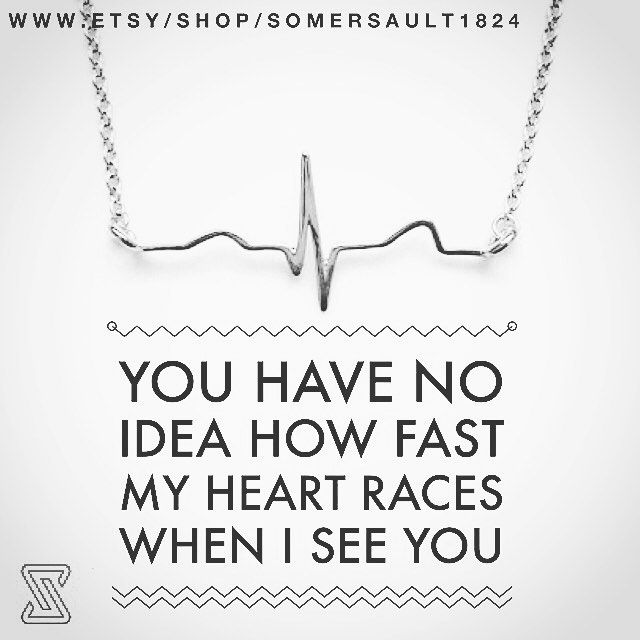 Heartbeat necklace in the finest sterling silver.