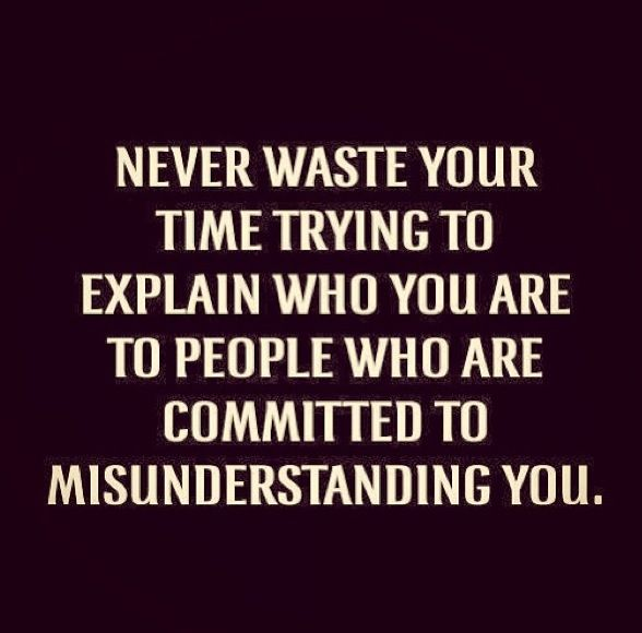 Misunderstanding. People will always have something to say