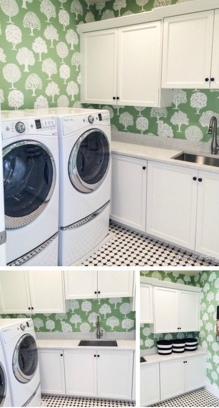 Cute Laundry Room With Fun Wallpaper Laundry Room Laundry Room