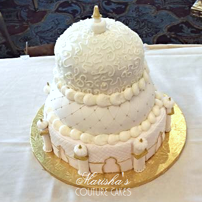 Taj Mahal Inspired Wedding Cake For An Indian Flavors Are Marishas Honey Suckle And