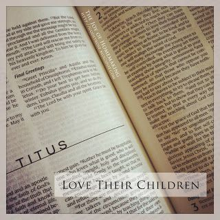 Looking at 1 Corinthians 13 and applying it to our children