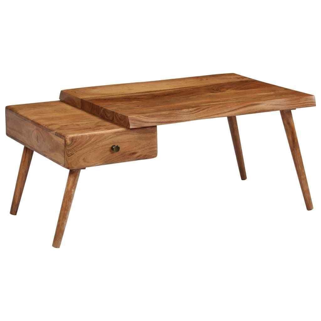 245664 Table Basse Vidaxl En Bois Massif Acacia 100x60x45 Cm