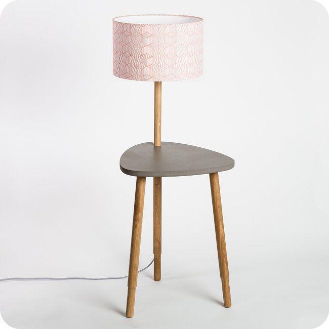 Lampe-table en bois et medium Séléné