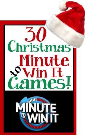 Christmas / Holiday theme Minute to Win It Games Christmas