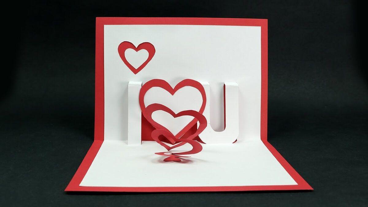 Handmade Valentine S Day Card Diy I Love You Pop Up Heart Love Card Tutorial Regarding I Stampin Up Valentine Cards Pop Up Card Templates Valentines Cards