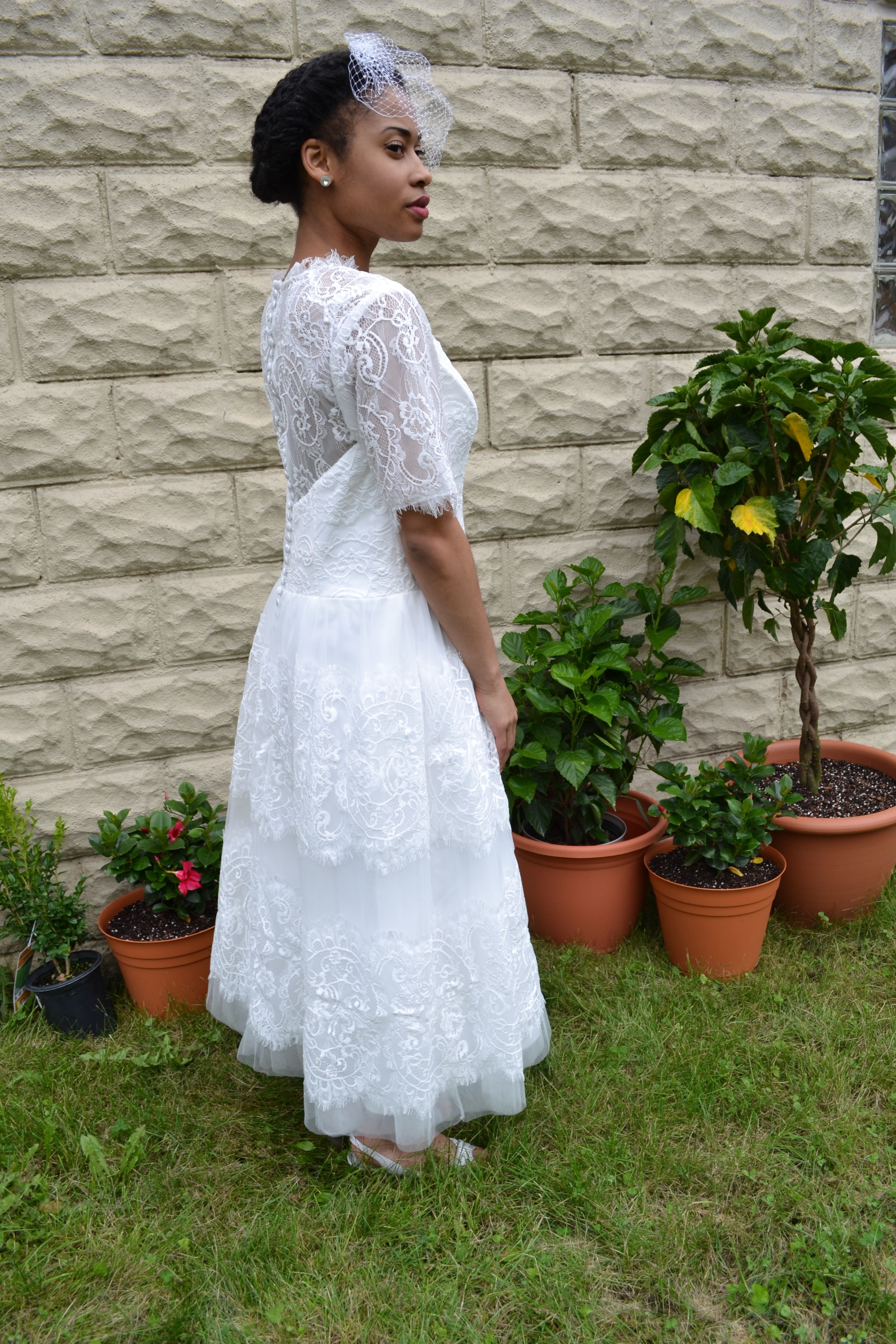 Lace Vintage Inspired Wedding Dress Custom Made To Order