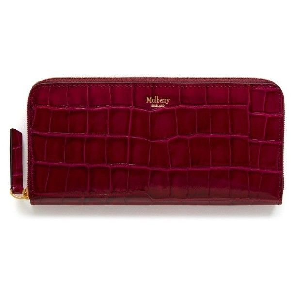 Women's Mulberry Zip Around Leather Wallet (€325) ❤ liked on Polyvore featuring bags, wallets, burgundy, slim leather wallet, red leather wallet, 100 leather wallet, mulberry wallet and red wallet