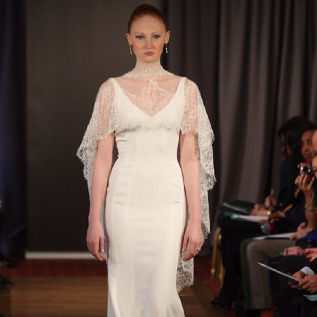 """The hottest bridal accessory, The Cape! """"Femme"""" by Ines Di Santo 2013 Collection. 212 872 8957 <3PenyaDS"""