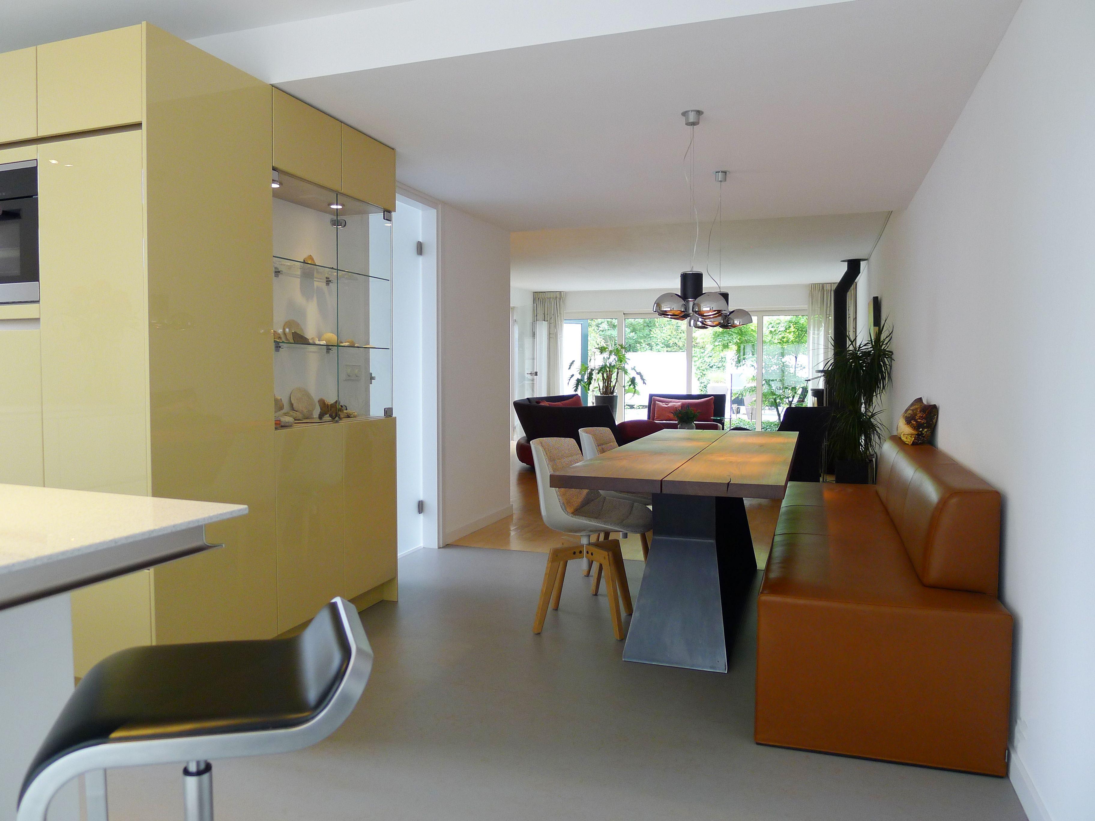 Interieur open keuken particulier dieren inclusief ontwerp keuken