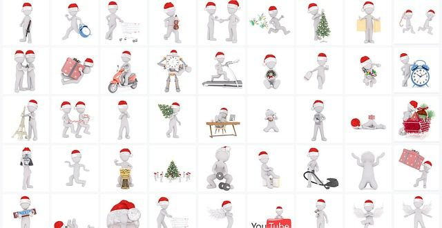 Free 3D Santa Claus doodle for Christmas with Commercial License