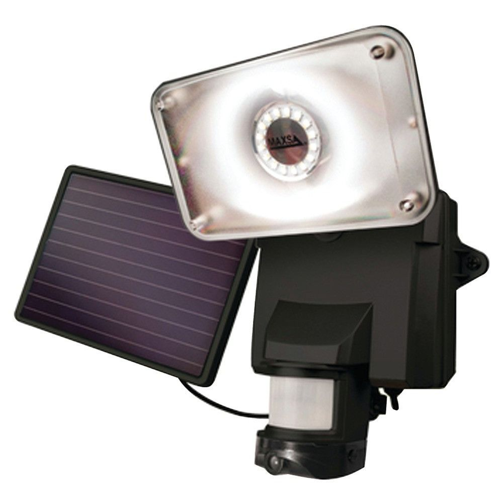 Flood Light Security Camera Fair Maxsa Solarpowered Security Video Camera & Floodlight  Home Decorating Design