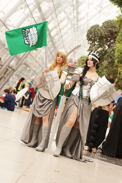 Attack on Titan pinned from http://animexx-en.onlinewelten.com/cosplay/521864/13501196/