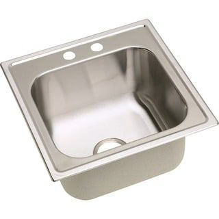 Elkay Dayton Stainless Steel 20 X 20 X 10 1 8 Single Bowl Top Mount Laundry Sink Stainless Steel Utility Sink Elkay Sink