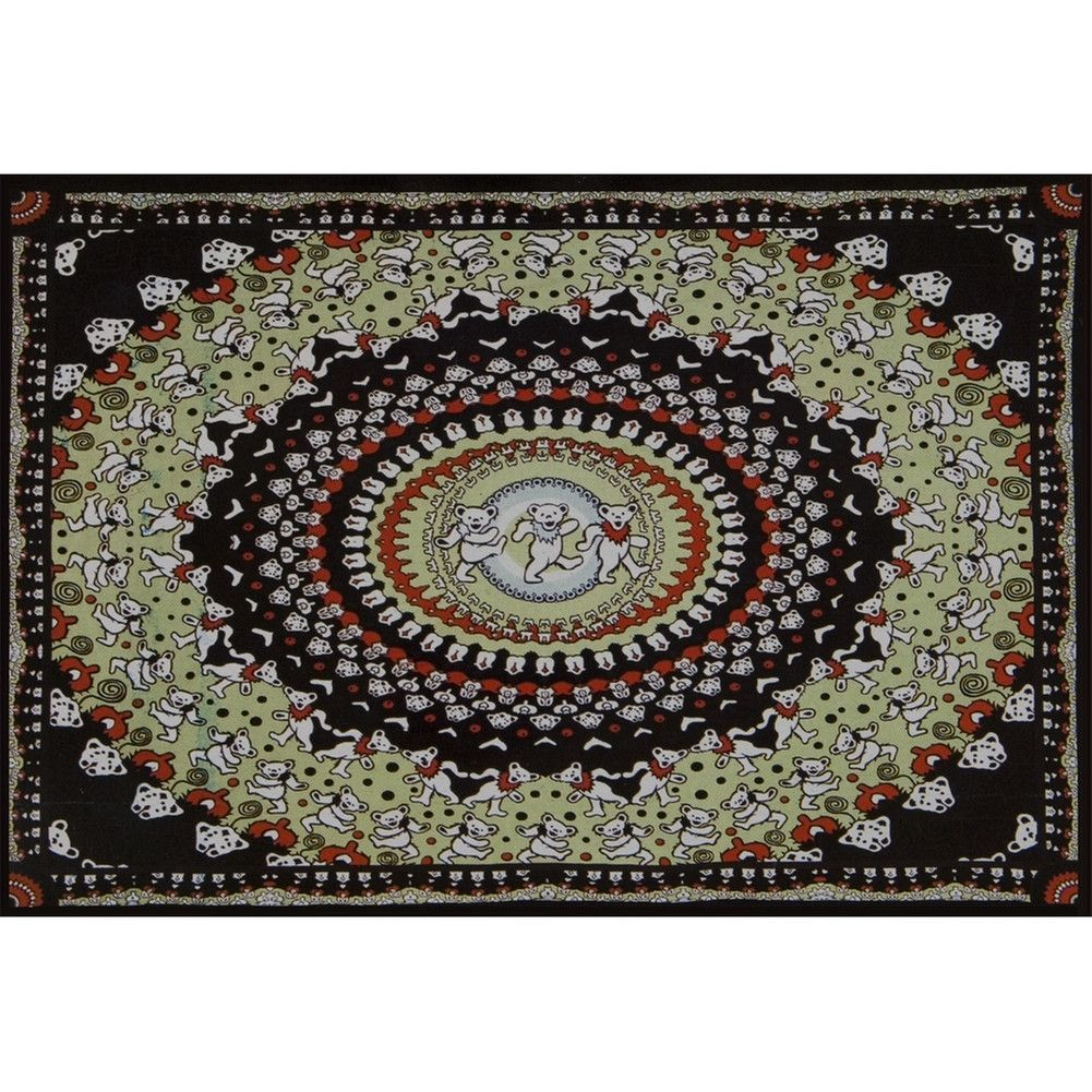 Kaliedescope Dancing Bear Tapestry