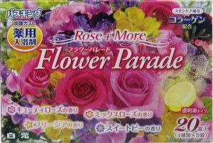 Bath King Rose ~ Flower Parade $12.00 http://thingsfromjapan.net/bath-king-rose-flower-parade/ #Japanese bath powder #bath item #Japanese beauty products