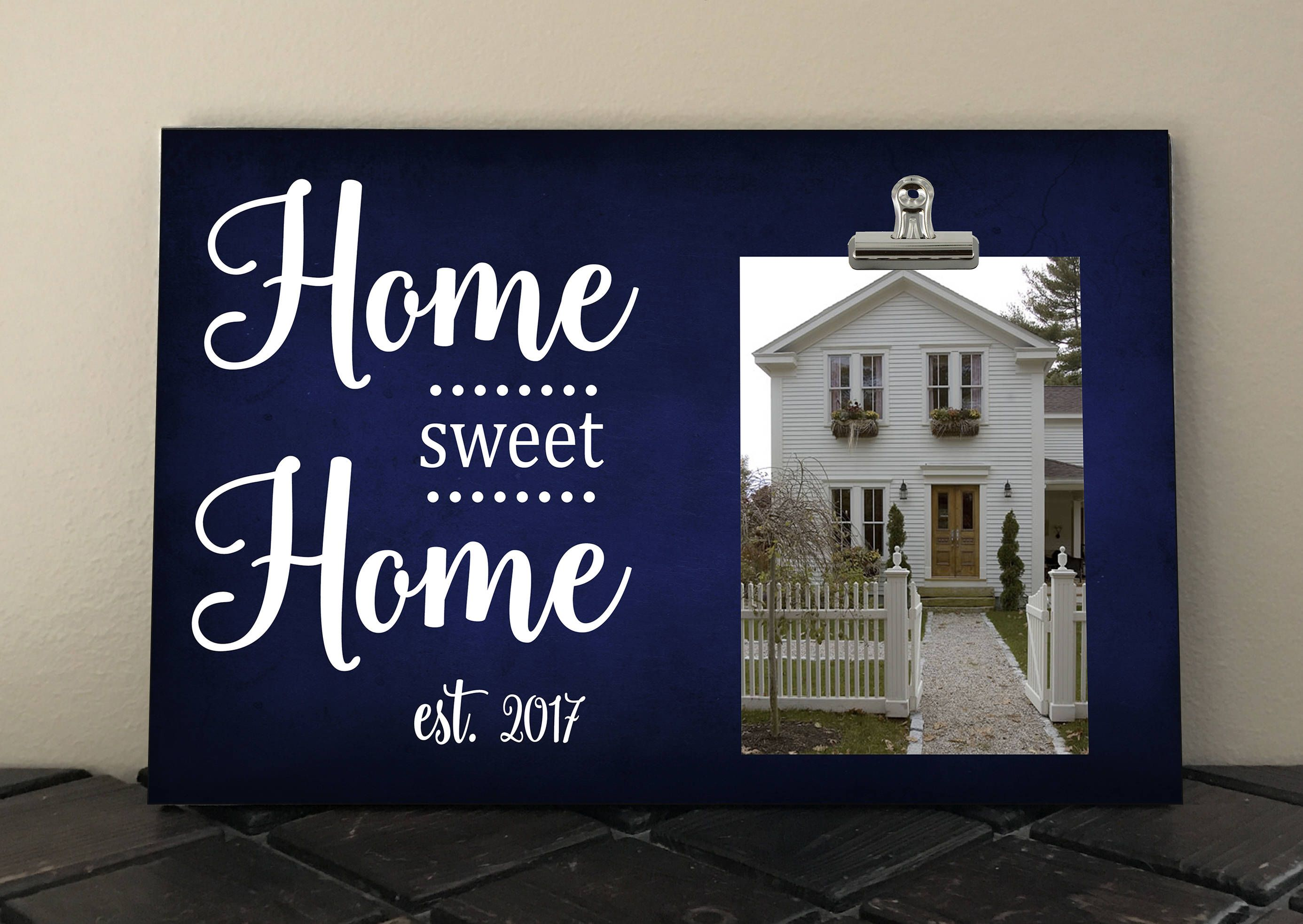 HOME SWEET HOME, Photo Clip Frame, Personalized Free, Frame measures ...