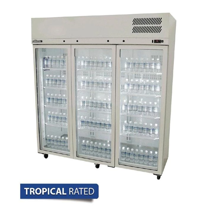Williams 1510l 3 Door Stainless Steel Upright Display Fridge Hps3gdss In 2020 Stainless Steel Cabinets Locker Storage Commercial Catering Equipment