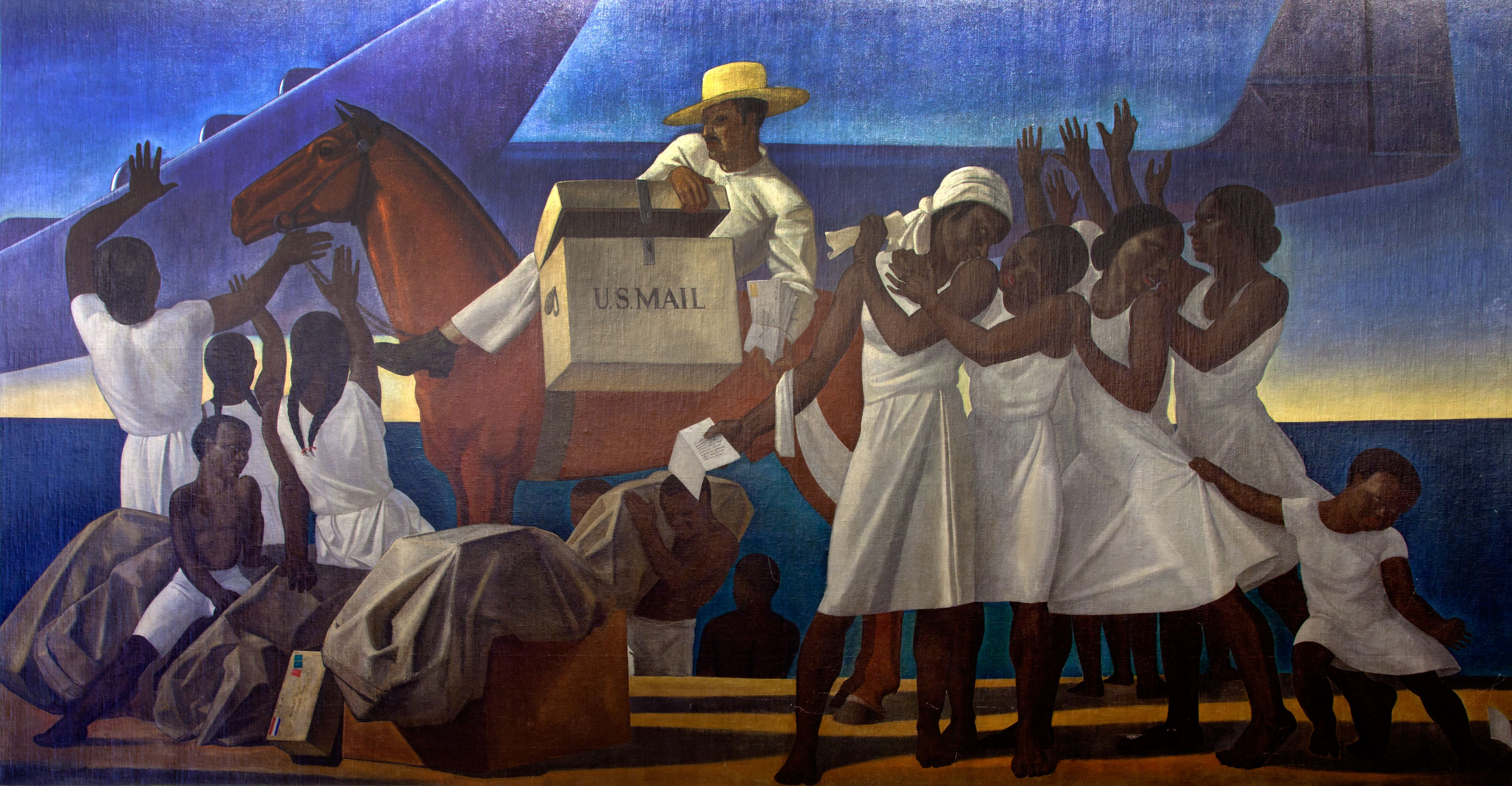 Mail service in the tropics rockwell kent mural 1937 http ift tt 2y4mhtf
