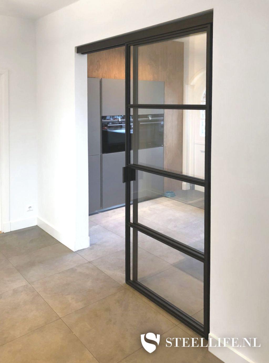 Stalen schuifwanden met glas voor woonkamer, kantoor of terr…