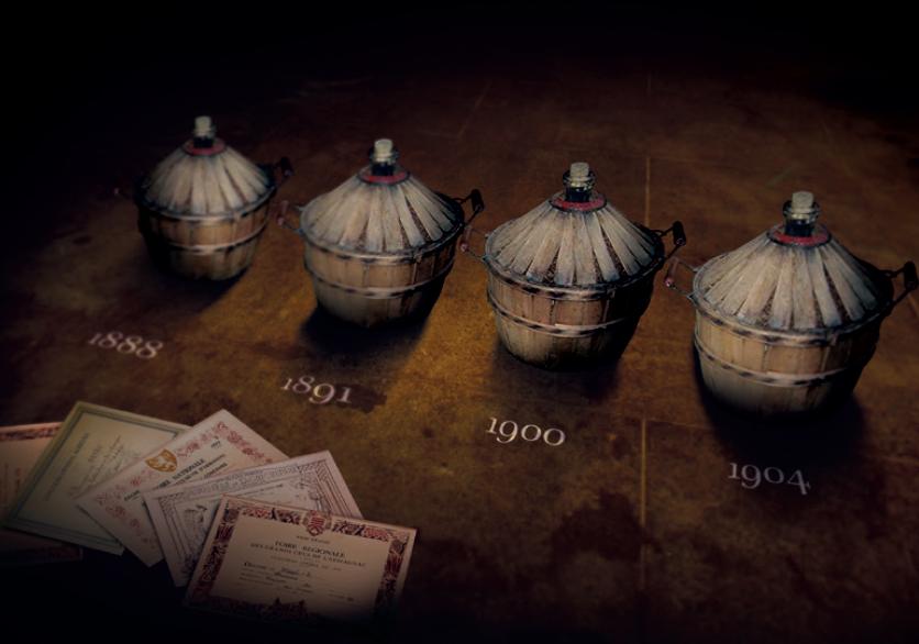 The 4 vintages blended in Samalens Le Tournant du Siècle