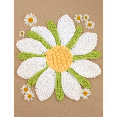 Daisy Dishcloth ~ free pattern ᛡ
