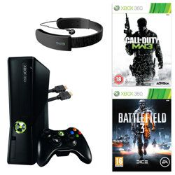 Xbox 360 250gb With Call Of Duty Mw3 Battlefield 3 Headset Hdmi