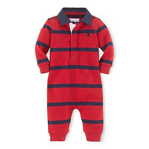 26a6e8a1f Polo Ralph Lauren Infant Boys Rugby Striped Coverall