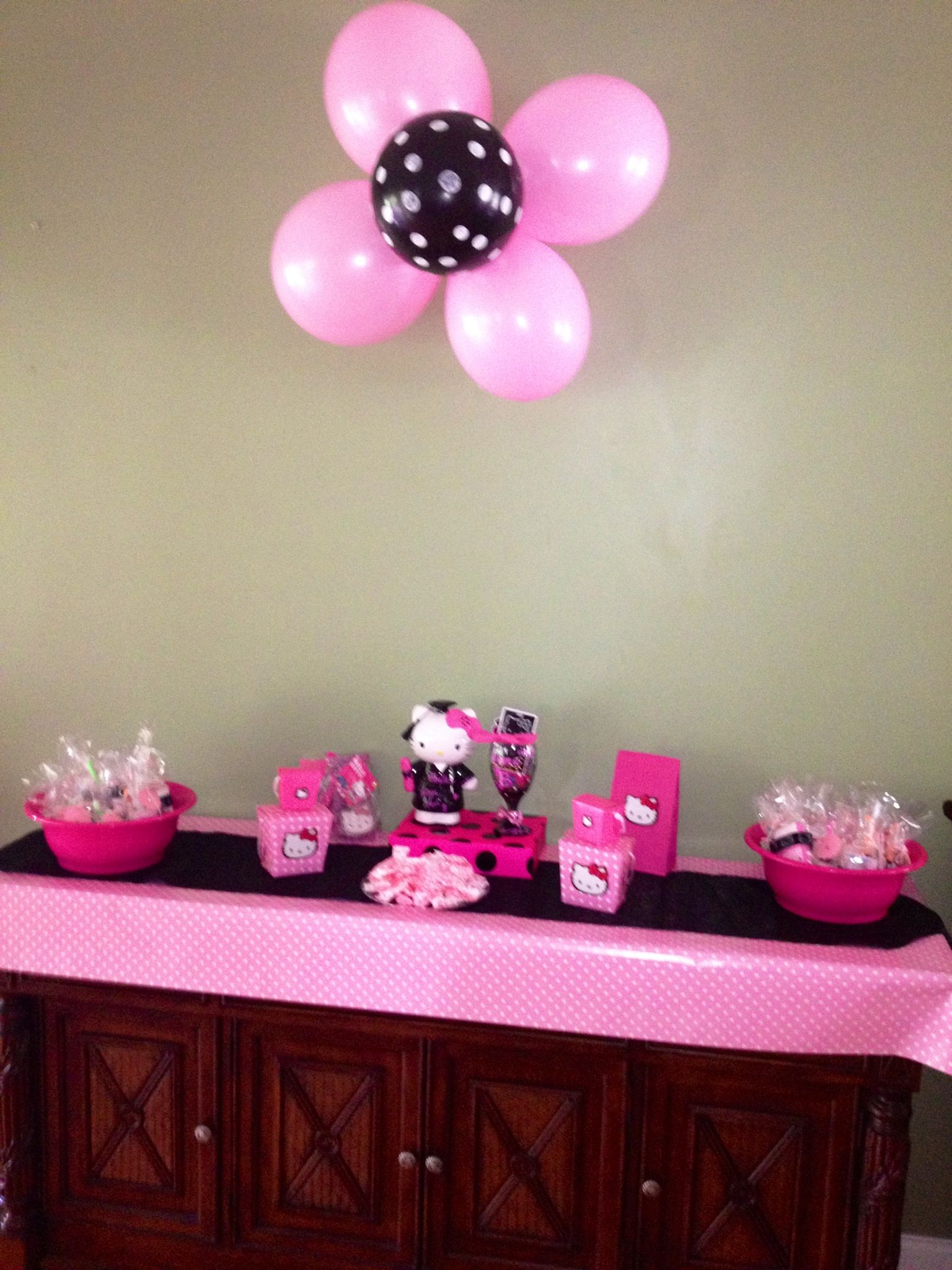 Hello Kitty Baby Shower Decor Hello kitty baby shower