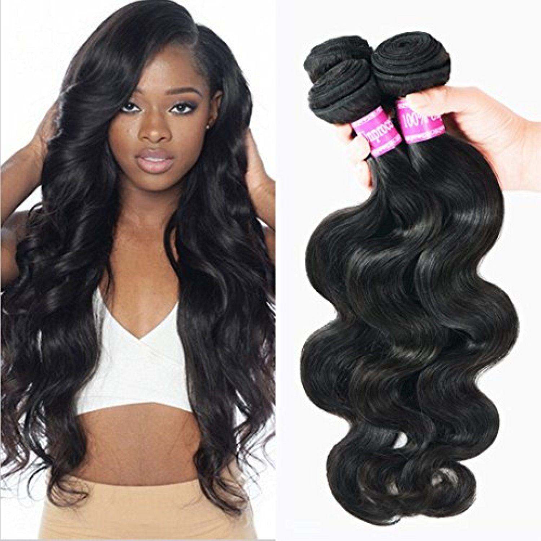 Burhair 14 16 18 Inch Brazilian Virgin Hair Body Wave 3 Bundles