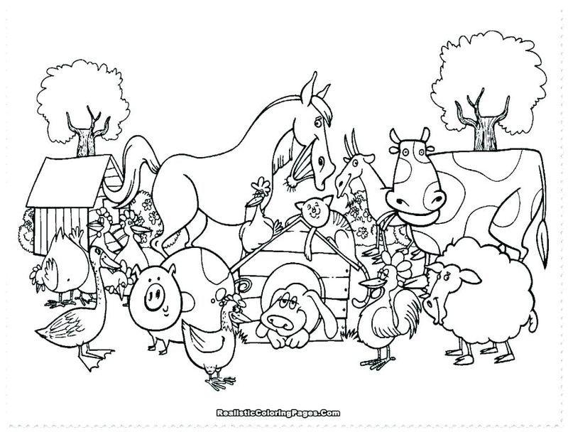 Farm Animal Coloring Pages Printable Di 2020