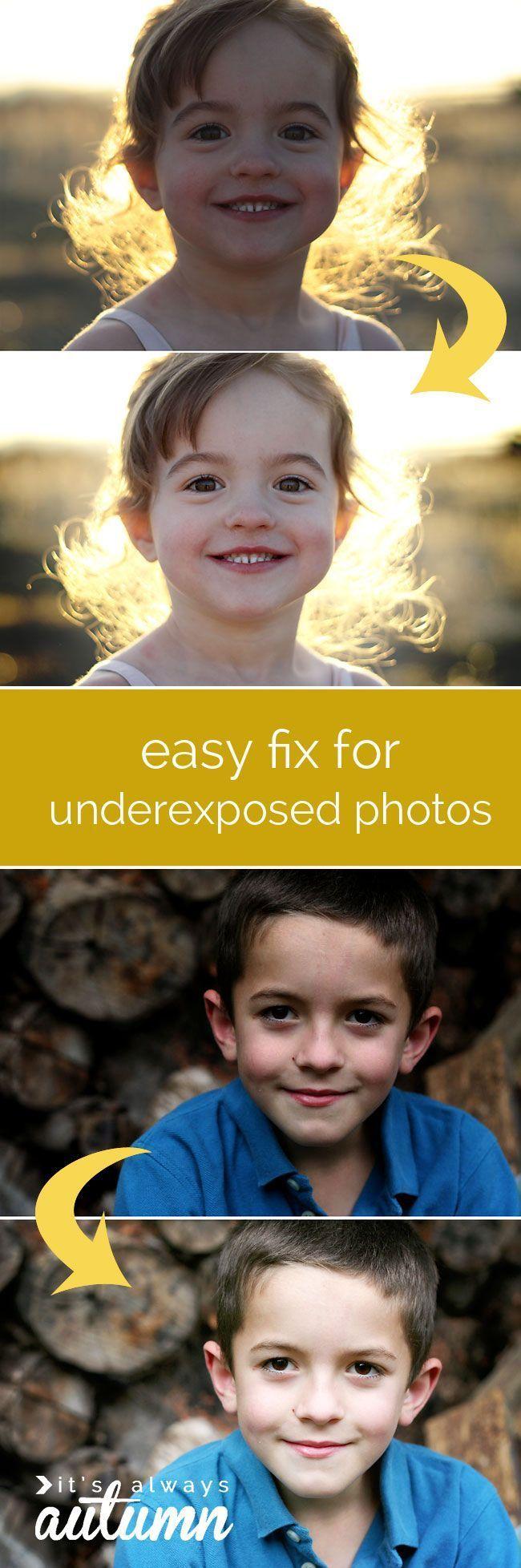 easy fix for dark or underexposed photos | simple photo edit - It's Always Autumn