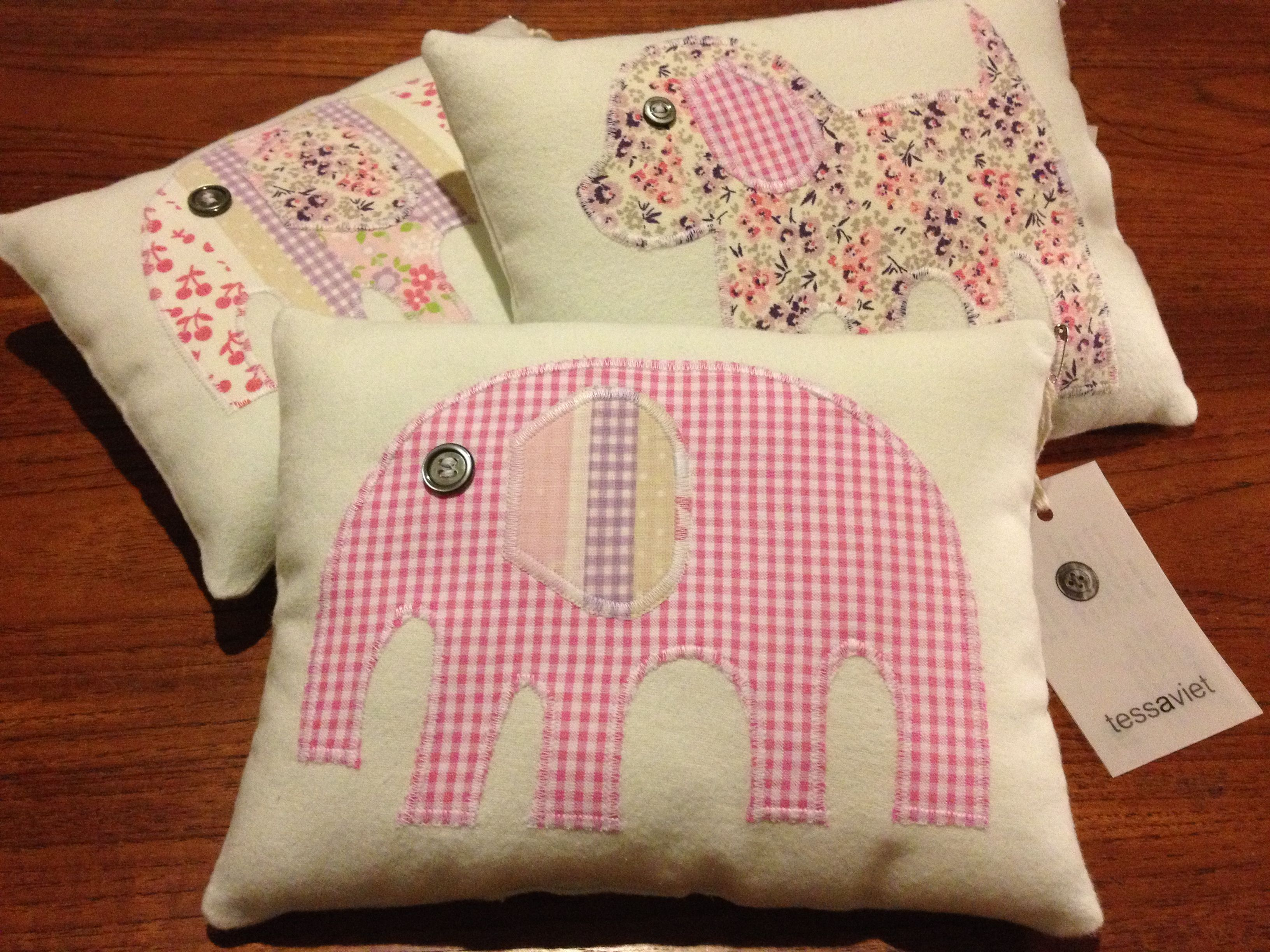 Today's wee cushion makes (front)