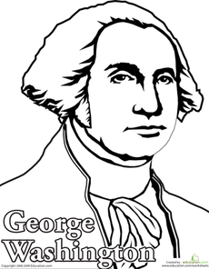 Color George Washington Social studies Homeschool and School