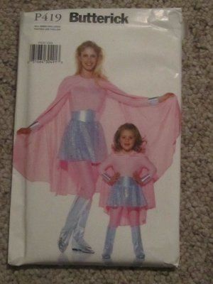 Butterick P419 SuperHero Childs/Girls/misses Mother Daughter - mother daughter halloween costume ideas