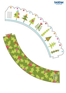 Christmas Cupcake Wrapper 4
