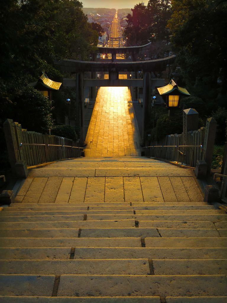 Fukutsu-city, Fukuoka prefecture, Japan  「宮地嶽神社」 福岡県福津市