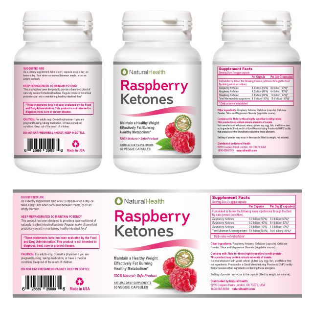 Raspberry Ketones Supplement Label Template Dlayouts