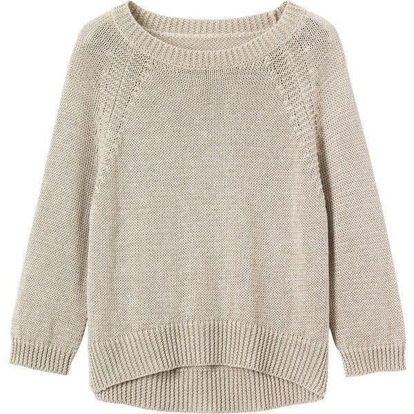 Linen Knit Pullover Via Polyvore Featuring Tops Sweaters 34